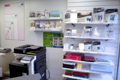 Inside the Nu-Age Print & Copy Shop